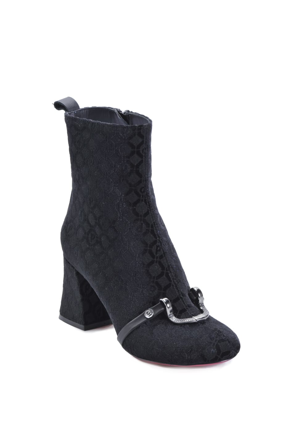 Ankle boots in velluto