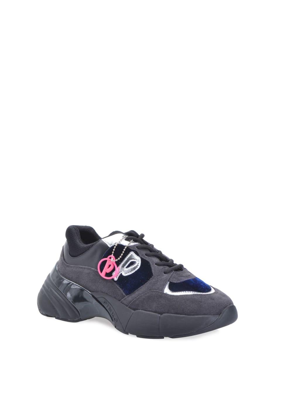 レザーとベルベットによるShoes To Rockスニーカー