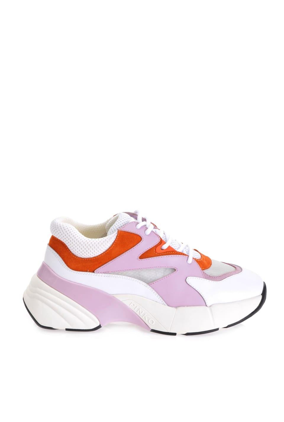 超大皮革运动鞋