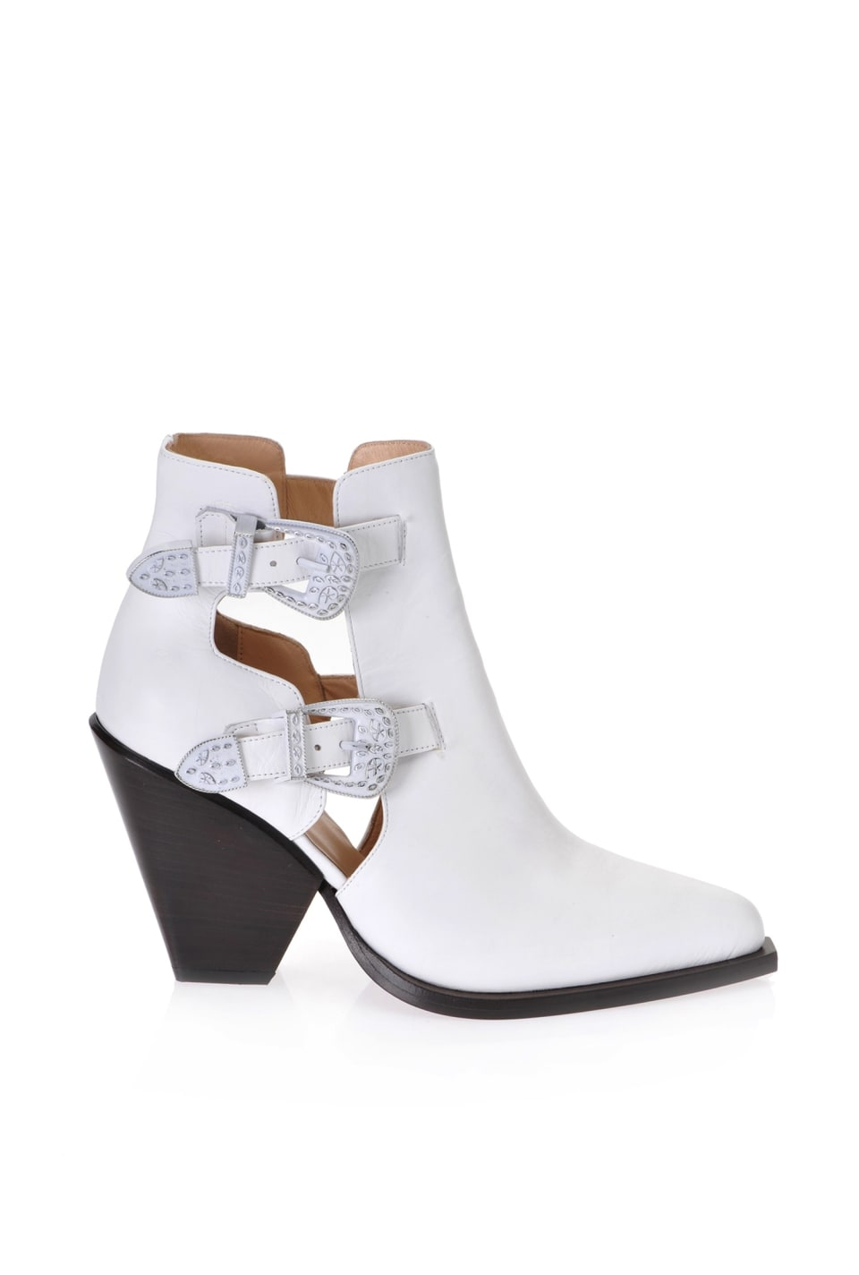 Cowboy ankle boots with openings