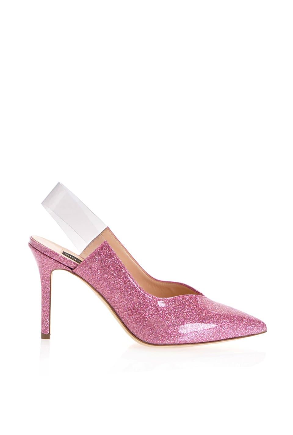 Zapato de salón con purpurina