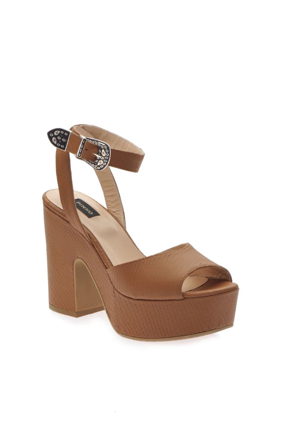 Sandales compensées à imprimé python - Pinko
