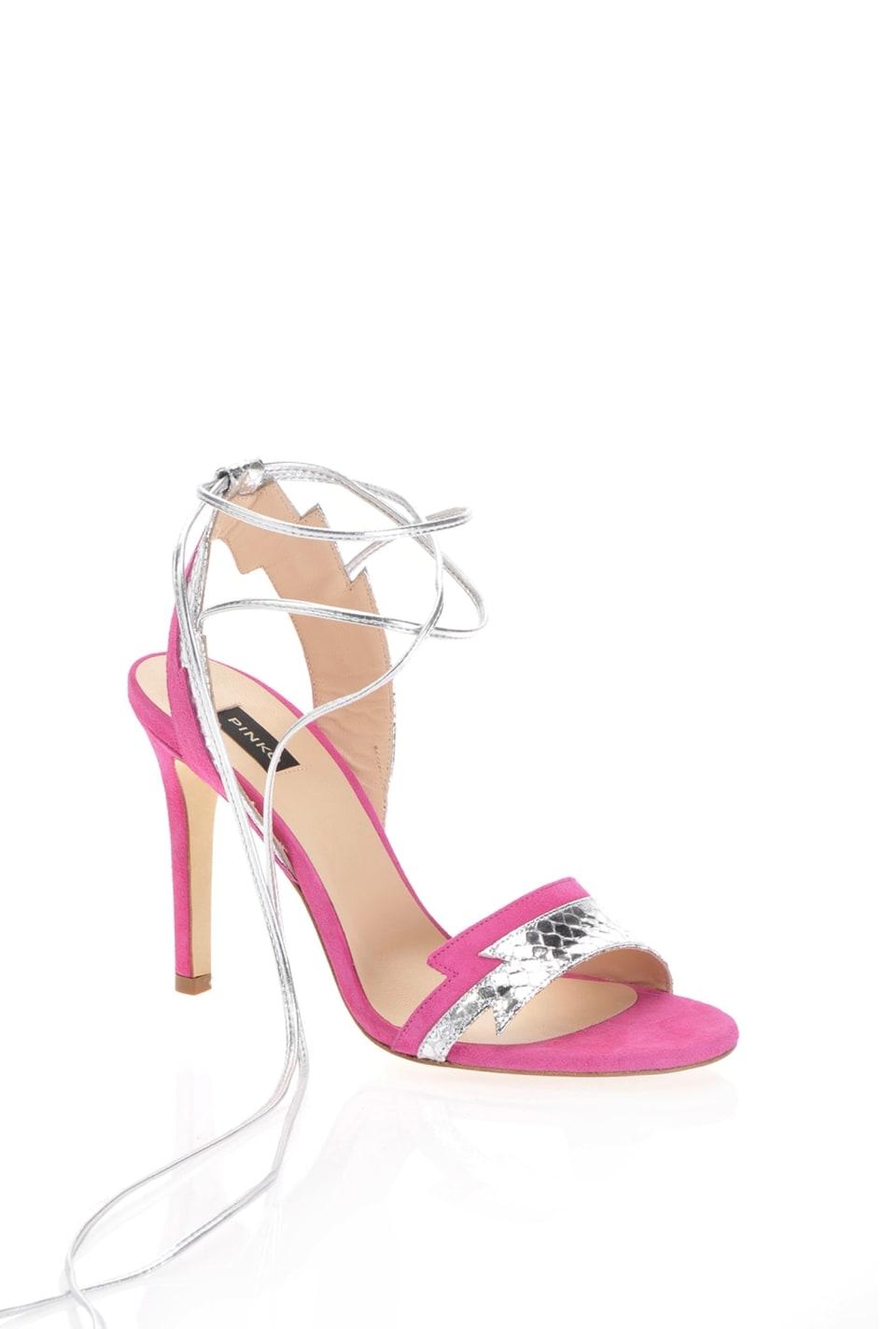 Sandalias con lazos en el tobillo - Pinko