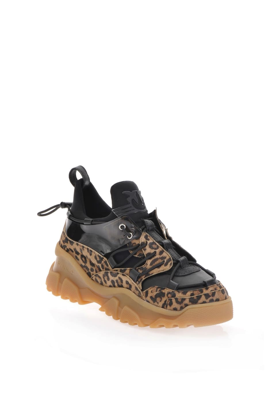 Animal pattern trek sneakers