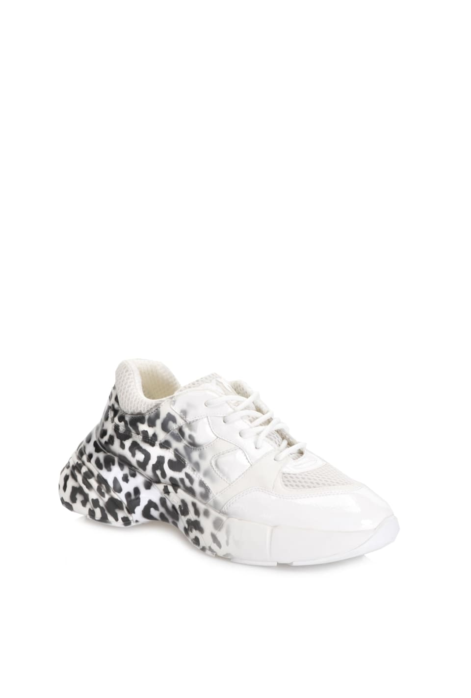Sneakers in shaded animal print