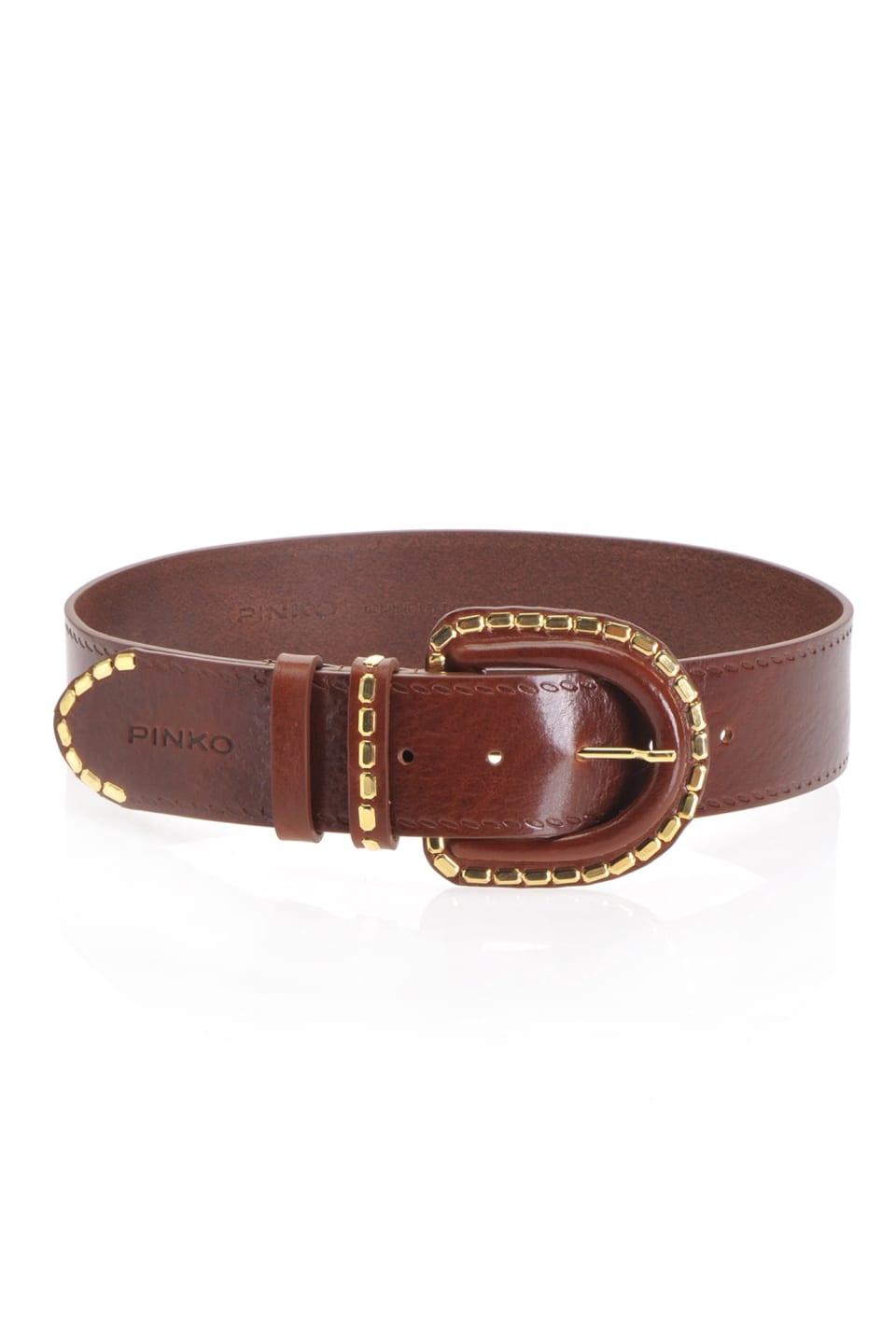 Cinturón con tachas rectangulares - Pinko
