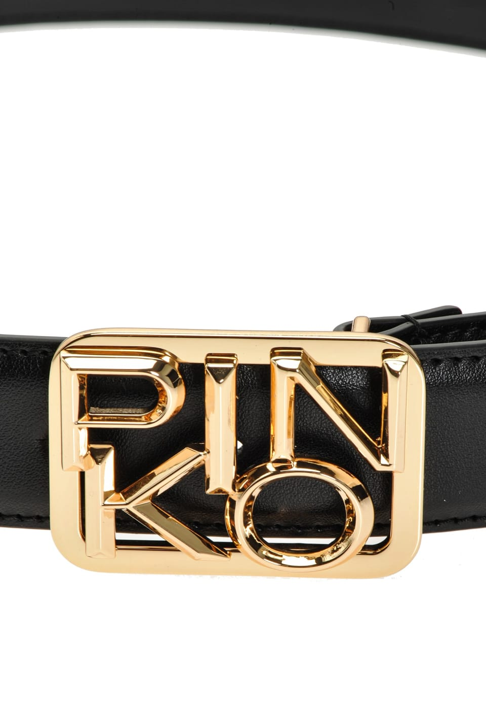 Narrow belt with Logo buckle
