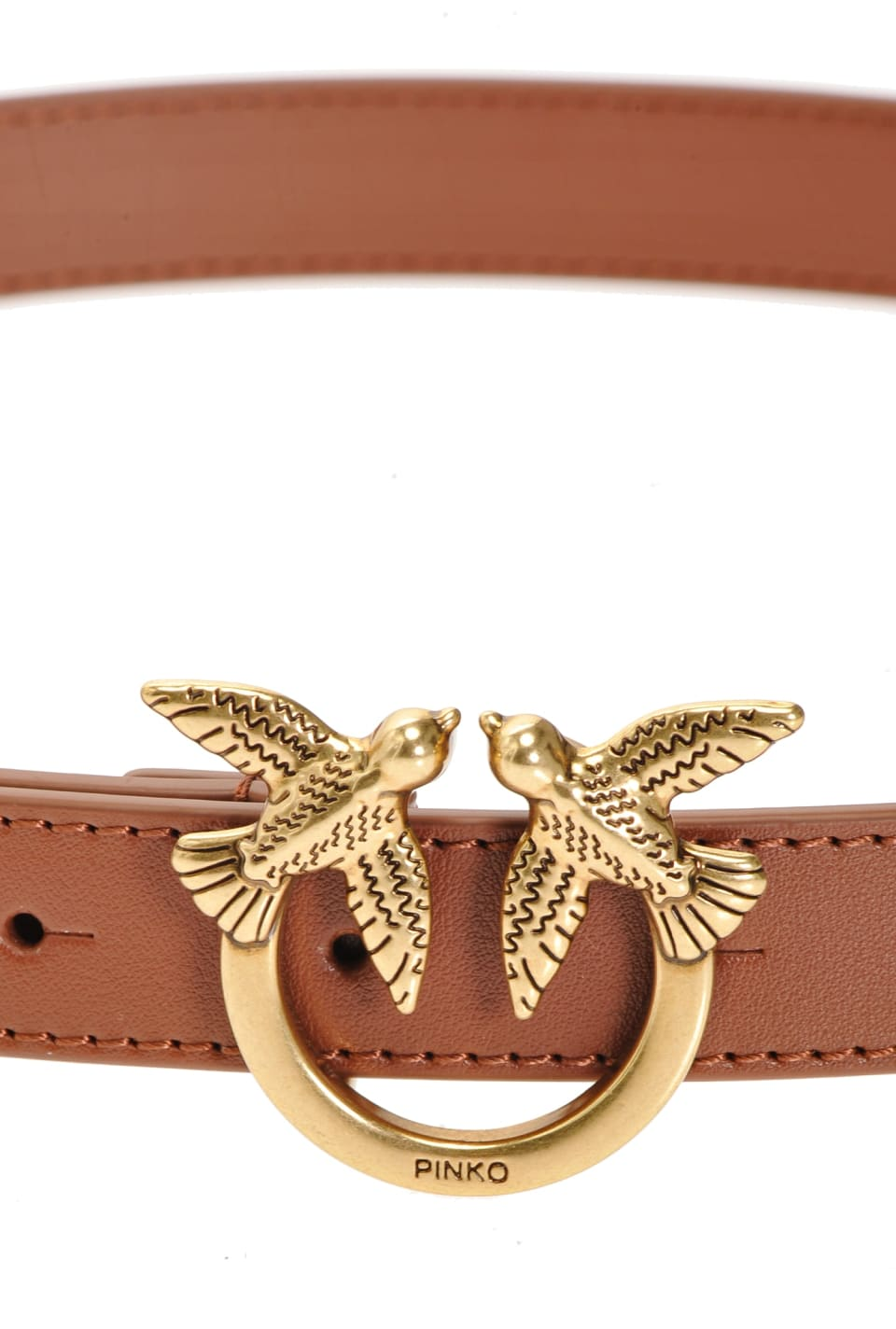 Narrow belt with Love Birds buckle