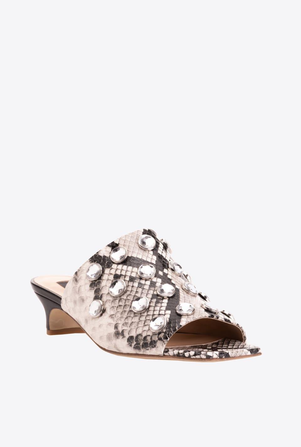 Python-print mule sandals - Pinko