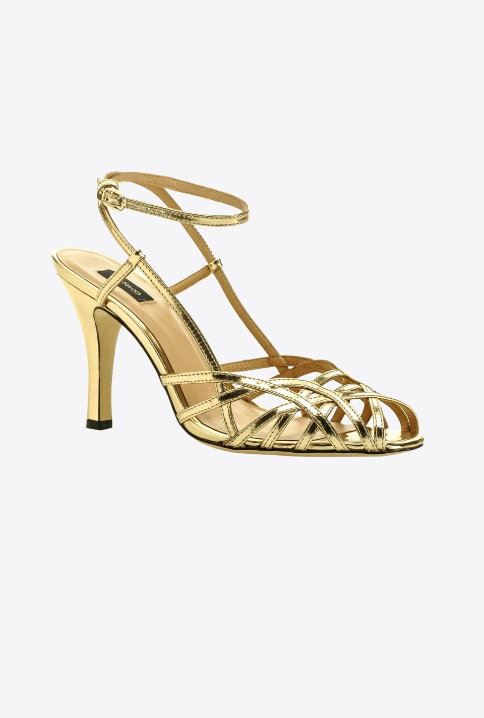 Laminated heeled sandals - Pinko