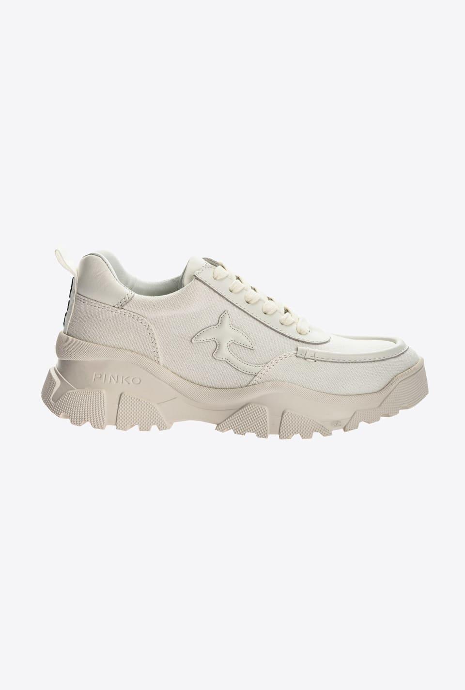 Recycled canvas trek sneakers - Pinko