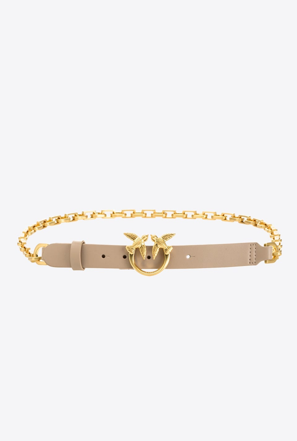 Leather-and-chain Love Birds belt - Pinko