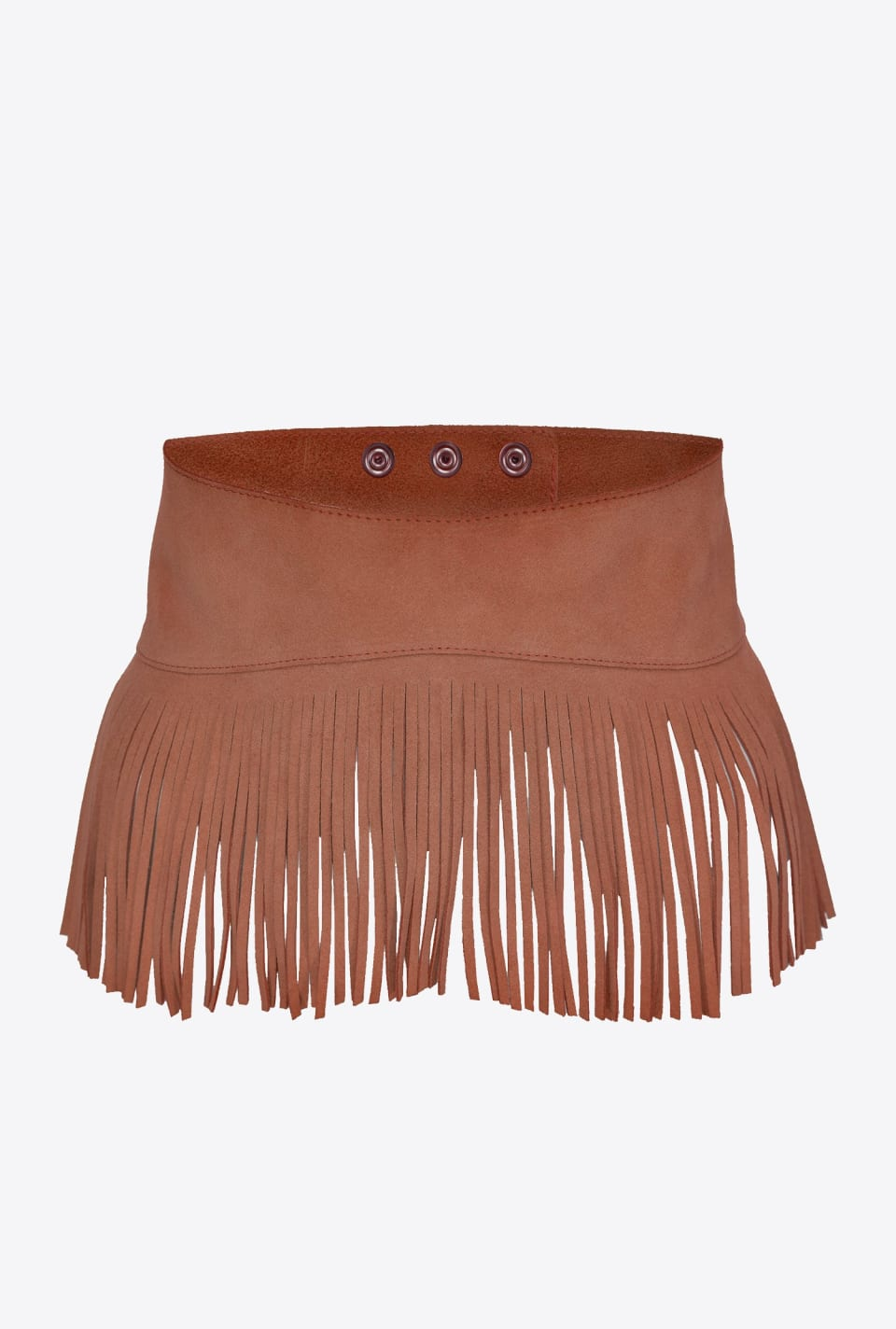 Suede belt with fringes - Pinko