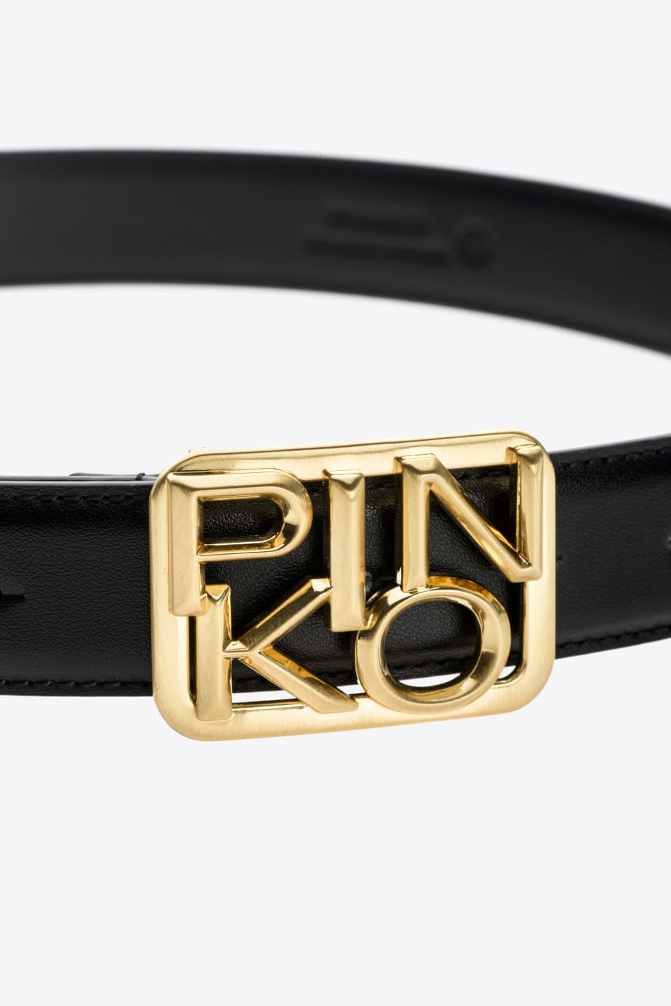 Leather Logo belt - Pinko