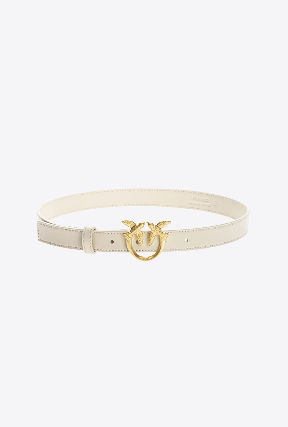 High-waist narrow Love Birds belt - Pinko
