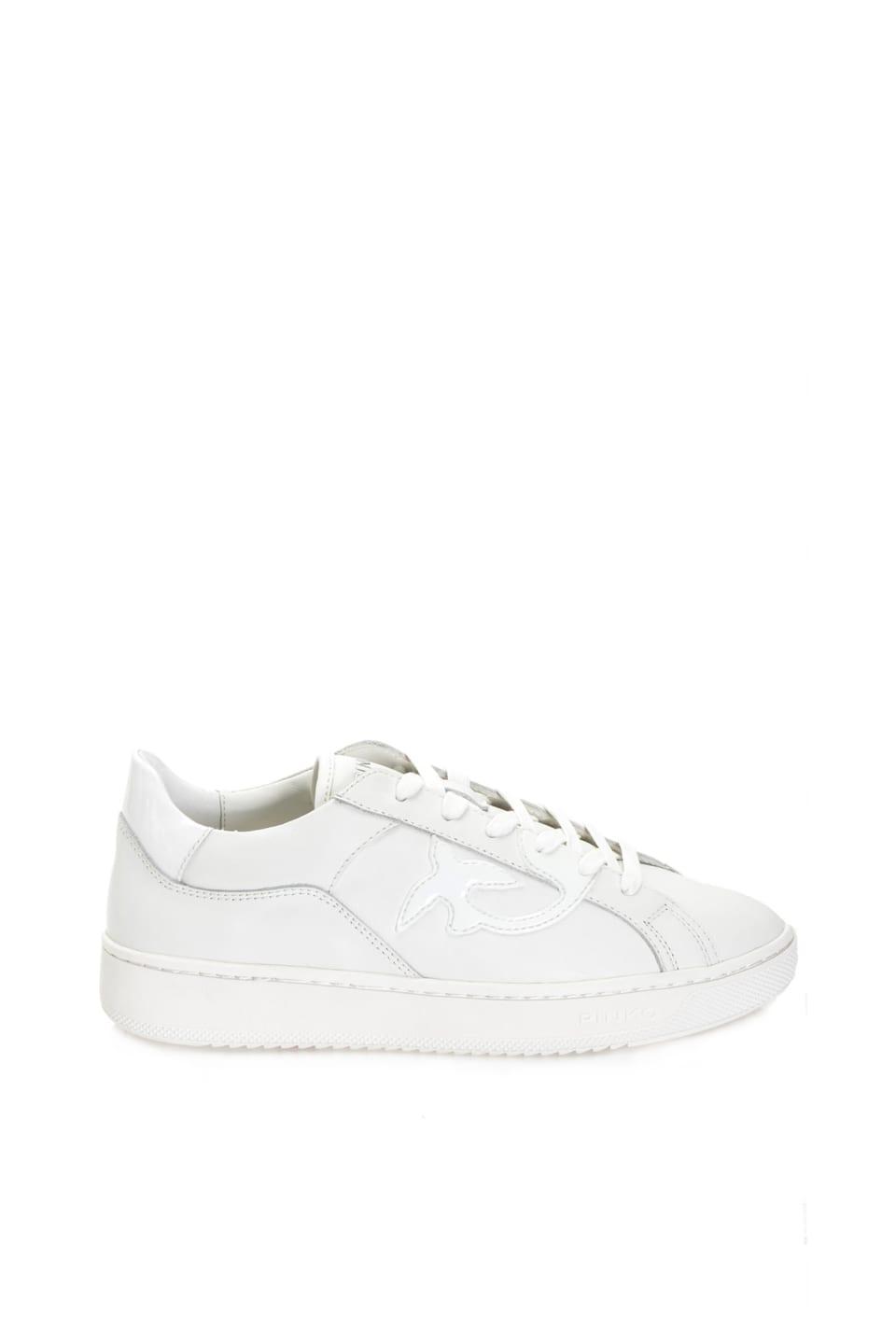 平底皮革运动鞋 - Pinko