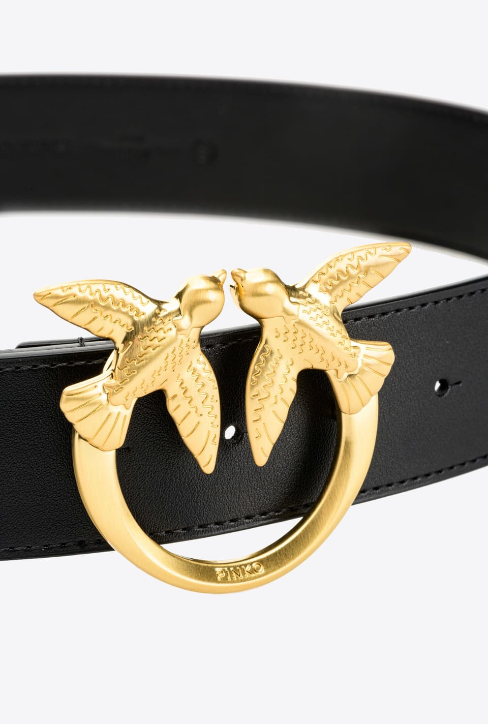 Leather Love Birds belt - Pinko