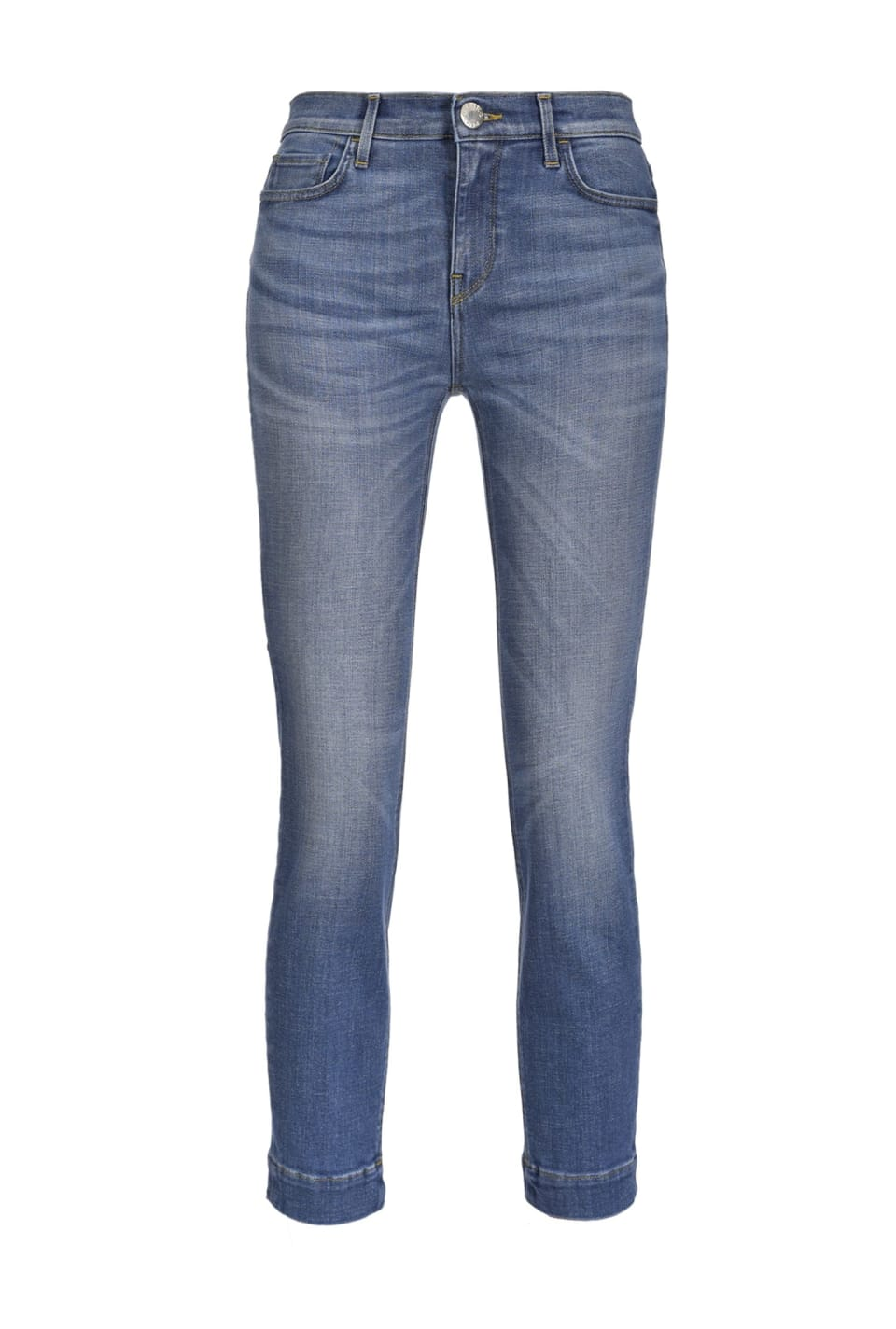 Skinny cropped jeans in comfort denim
