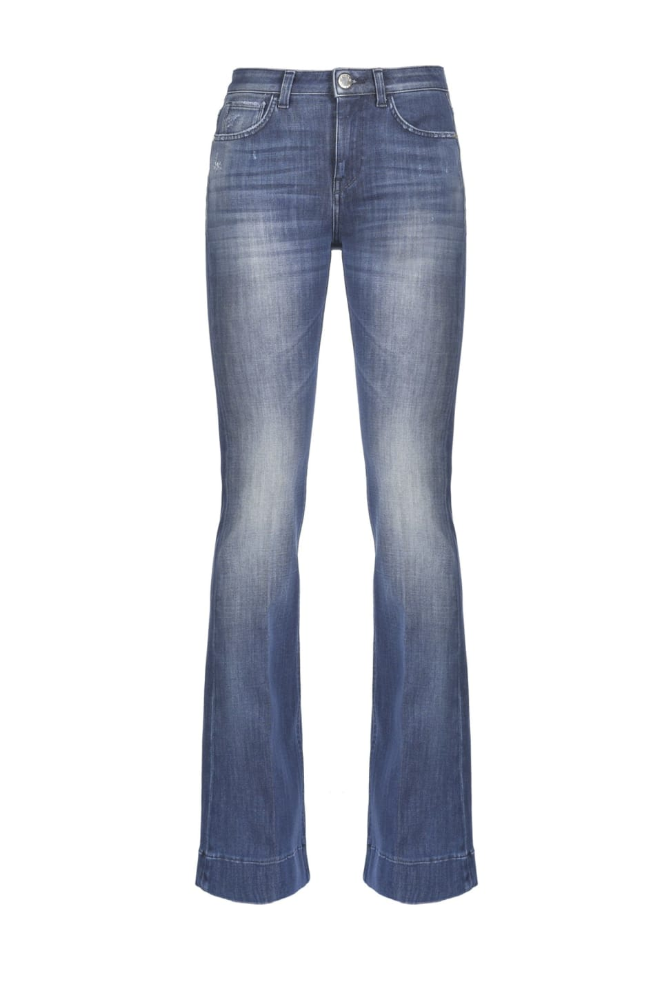 Flare jeans in two-way stretch denim