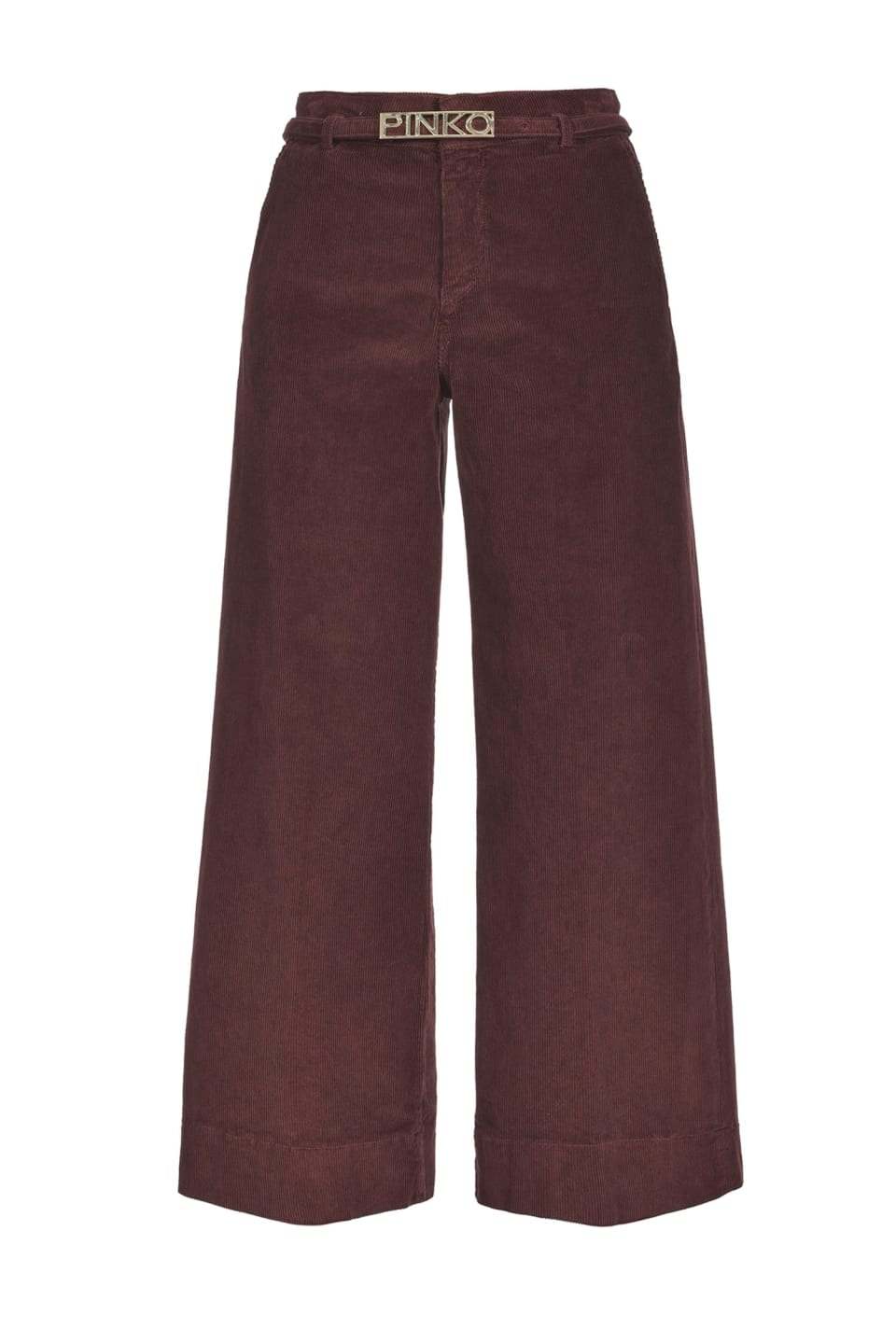 Slim fit palazzo trousers in fine-ribbed corduroy