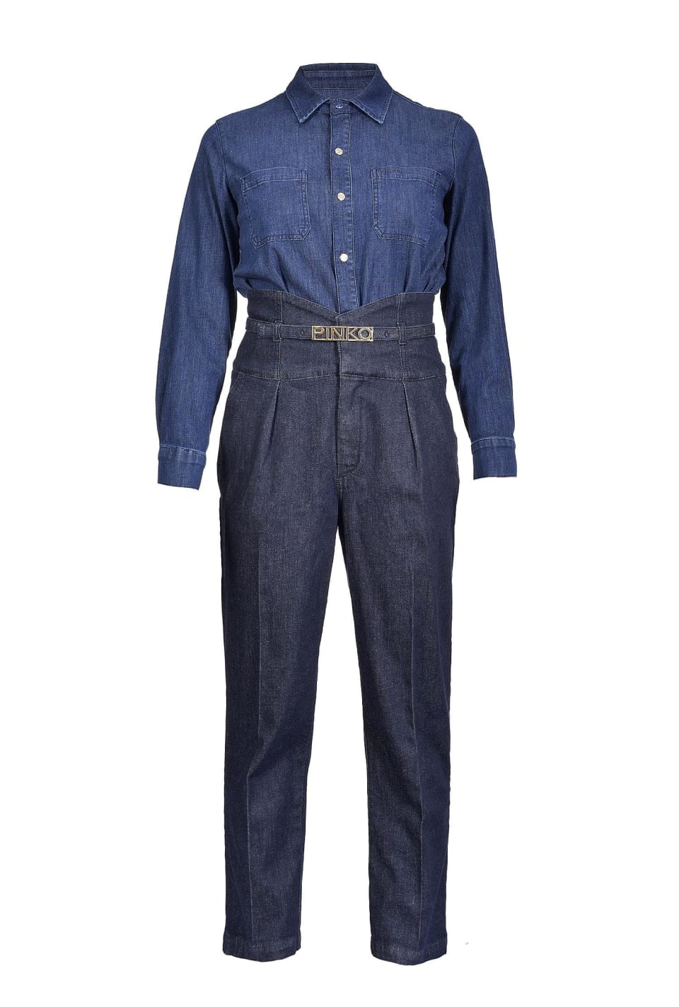Comfort twill denim jumpsuit