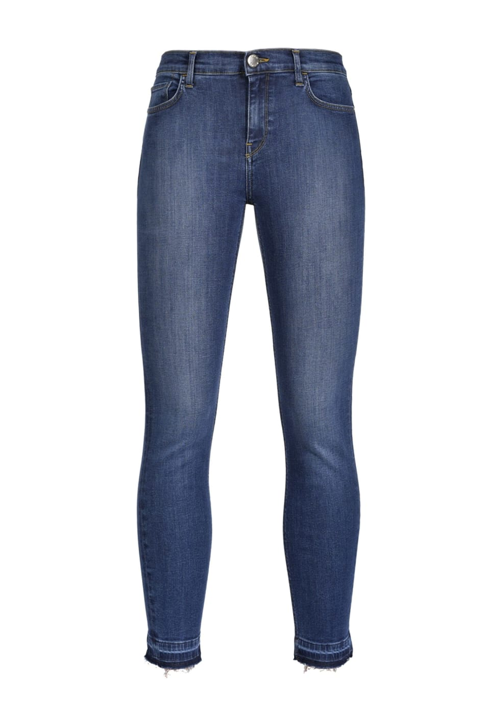 Skinny cropped jeans in stretch denim