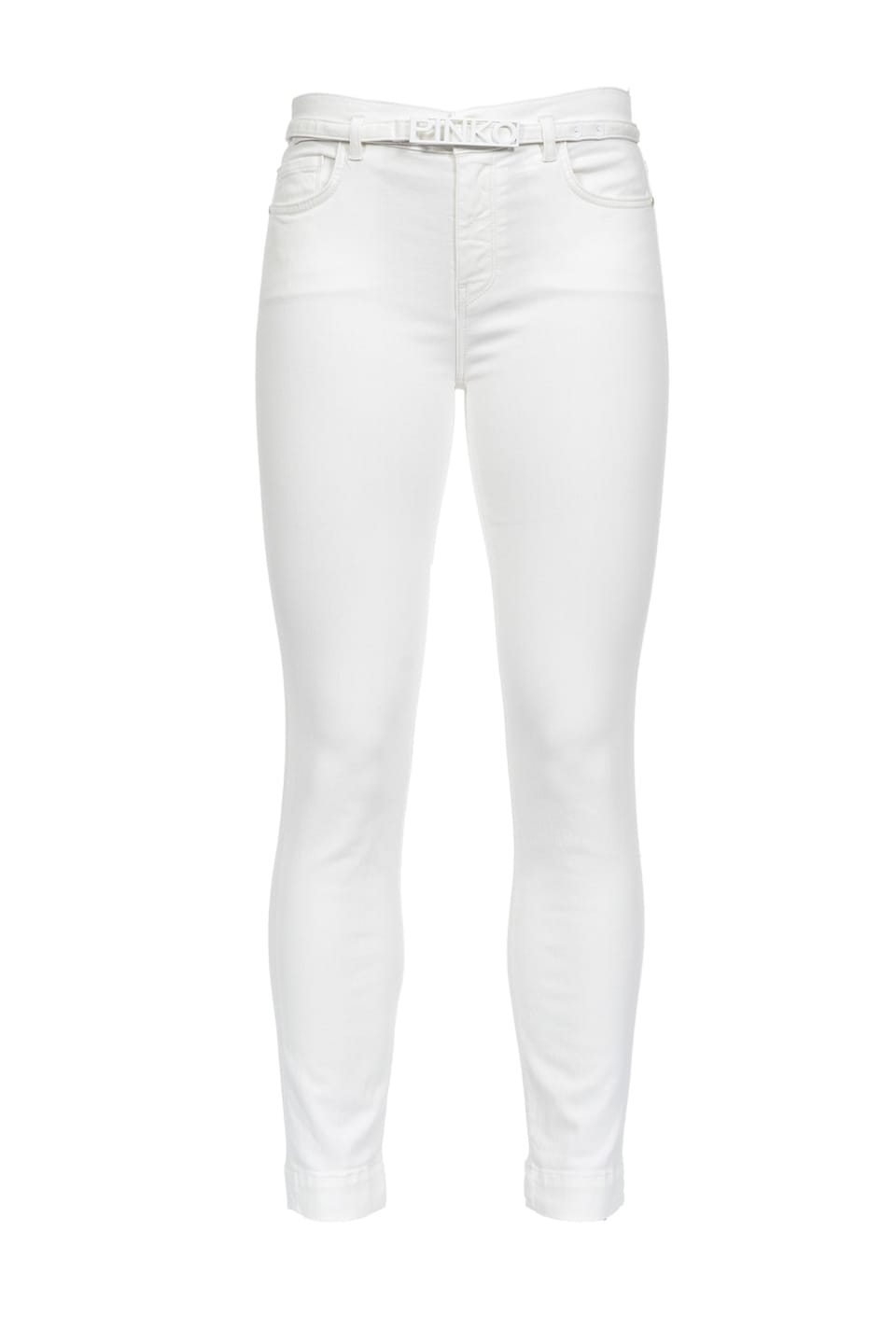 Skinny cropped jeans in power stretch bull