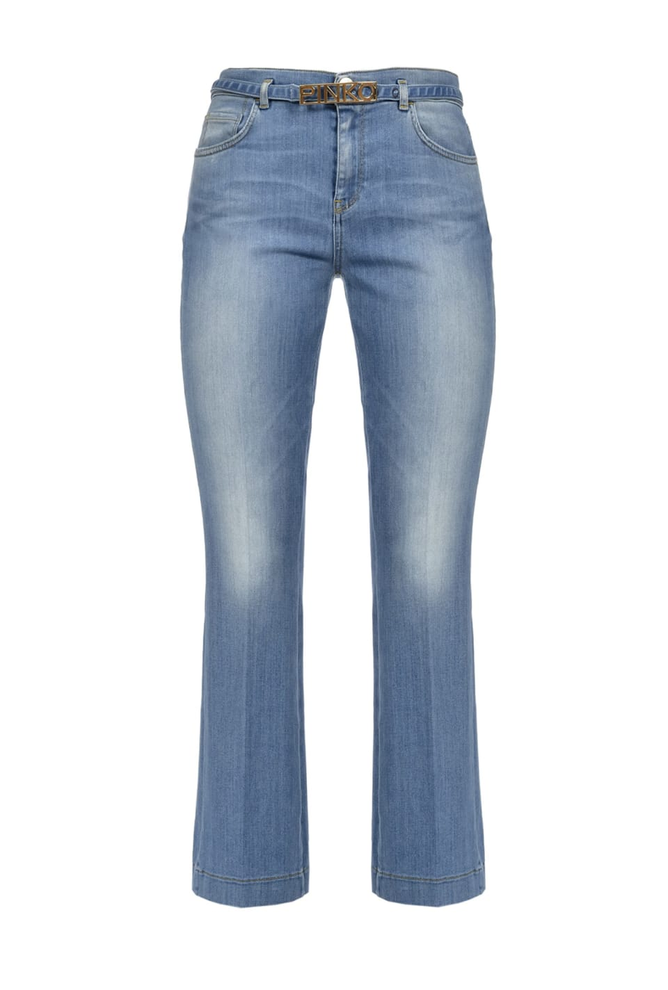Flared jeans in blue power stretch denim