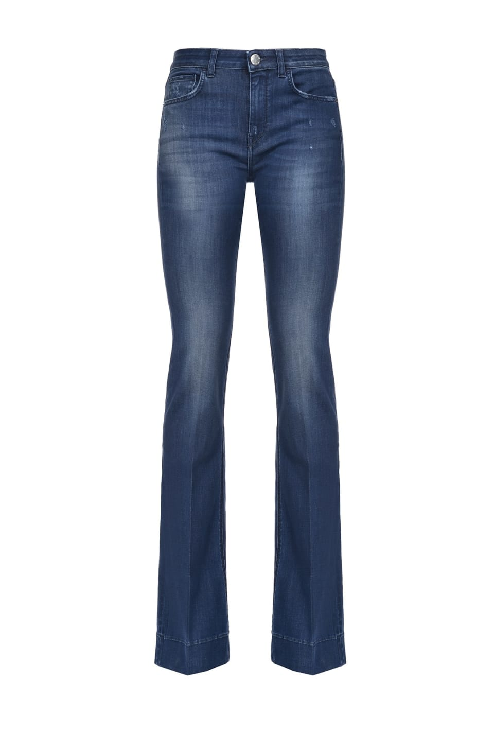 Jeans flare in denim blue power stretch