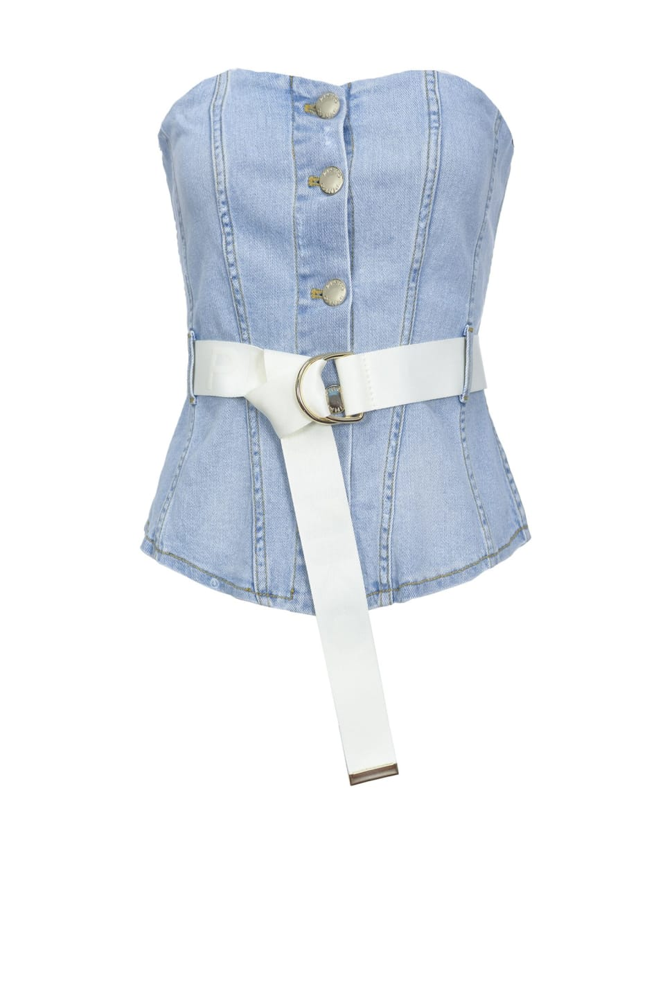 Top bustier in comfort denim