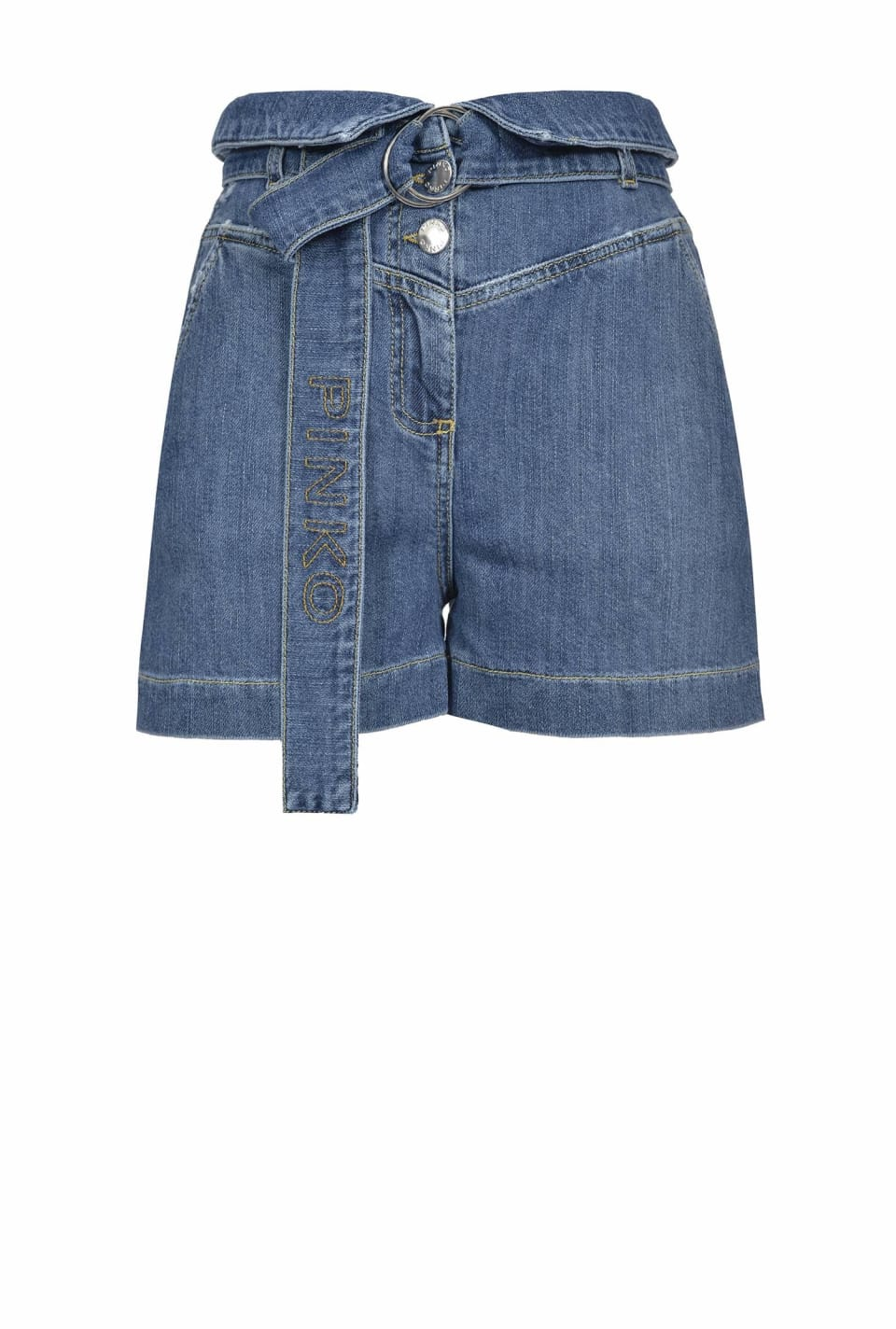 Jeans shorts with belt