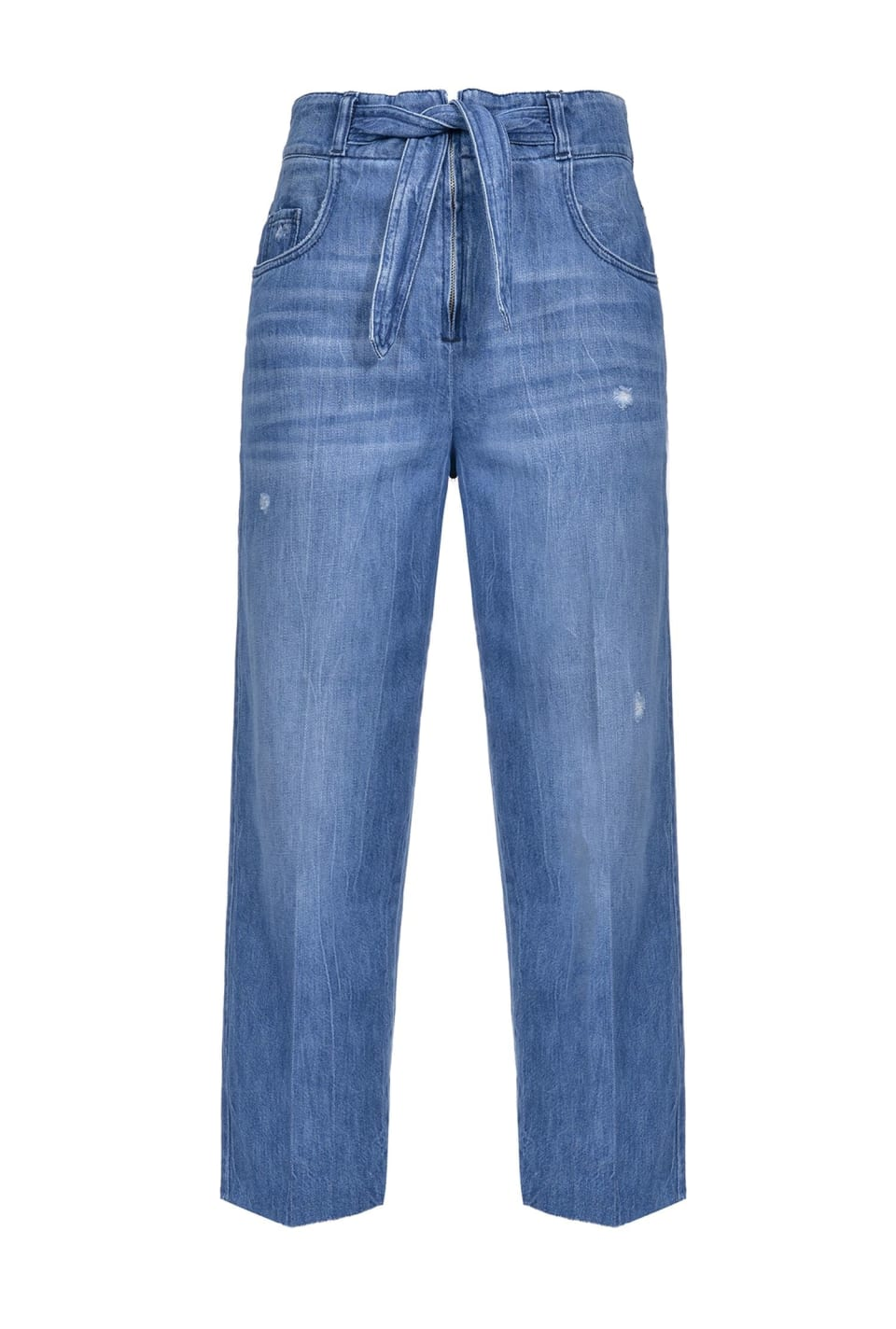 Straight-fit jeans with belt