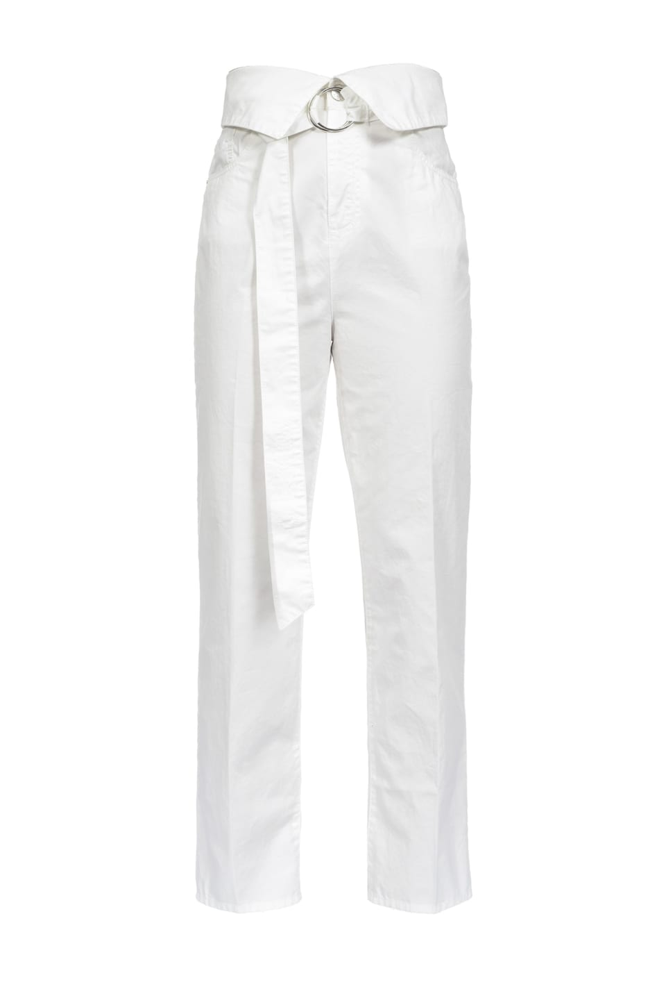 Straight-fit trousers with belt