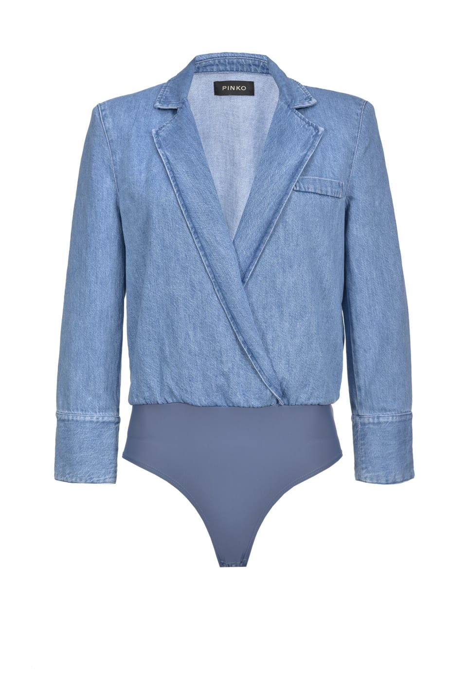 Chaqueta tipo body de denim