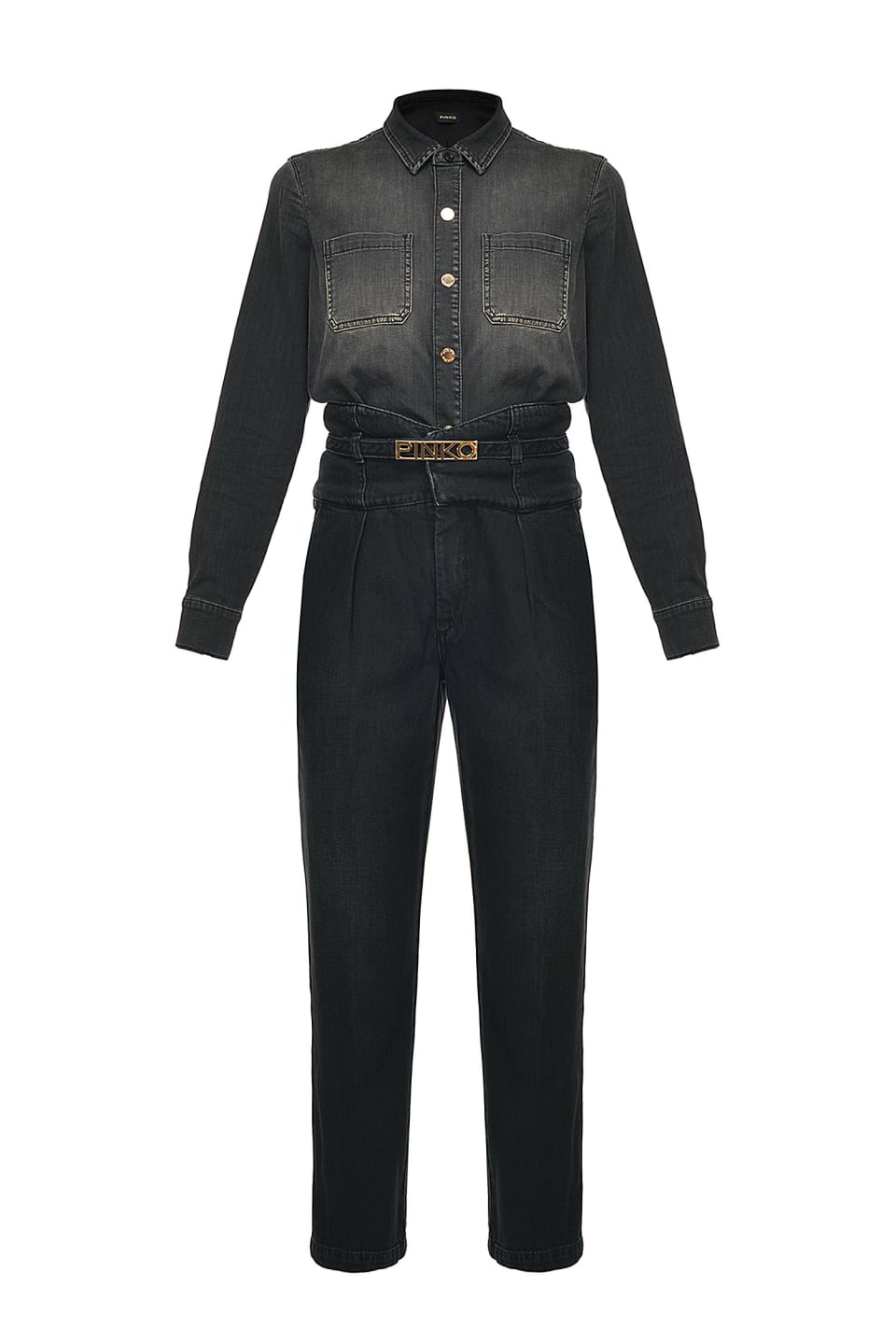 Total black denim jumpsuit - Pinko