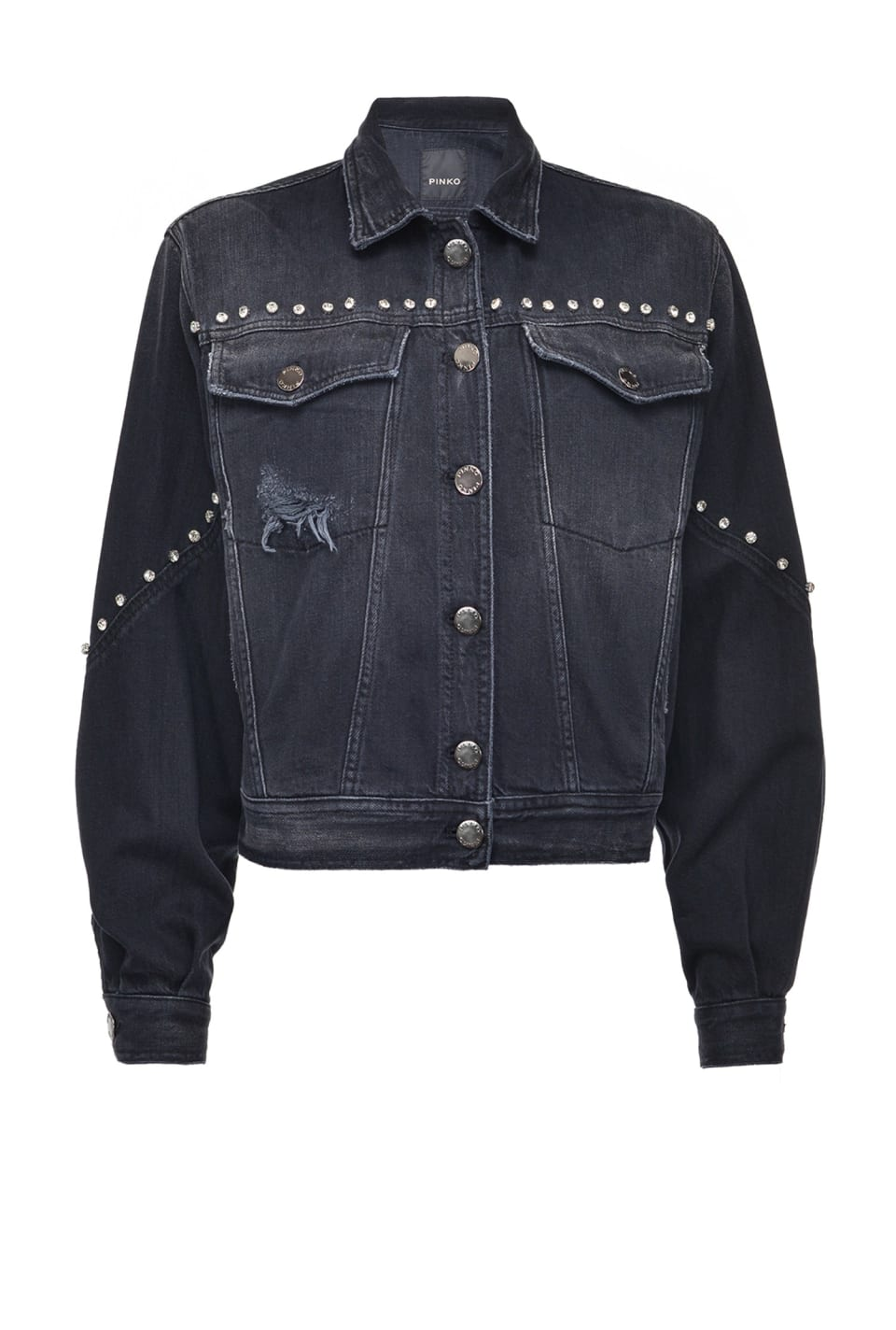 Black denim jacket - Pinko