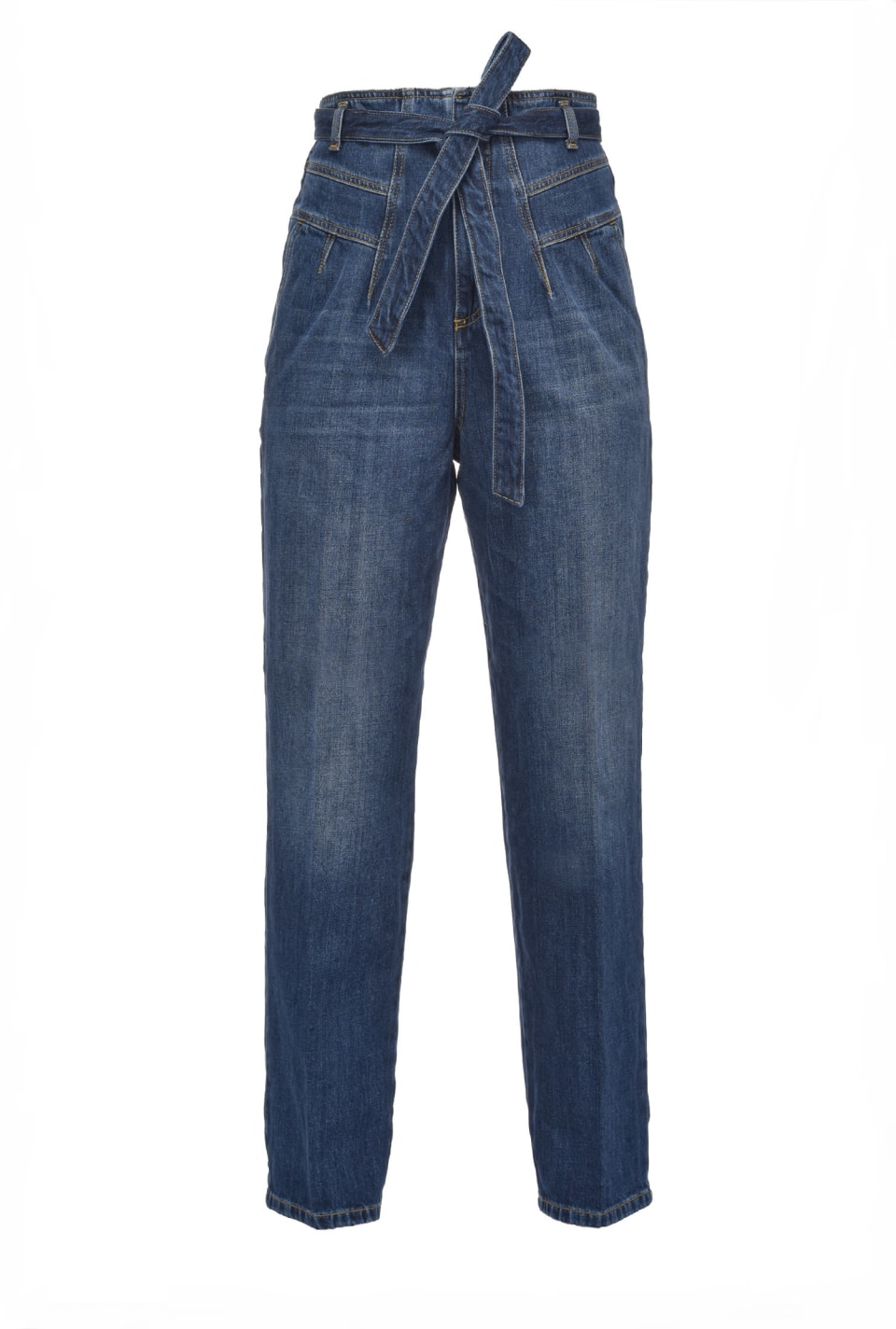 Carrot-fit jeans in vintage denim - Pinko