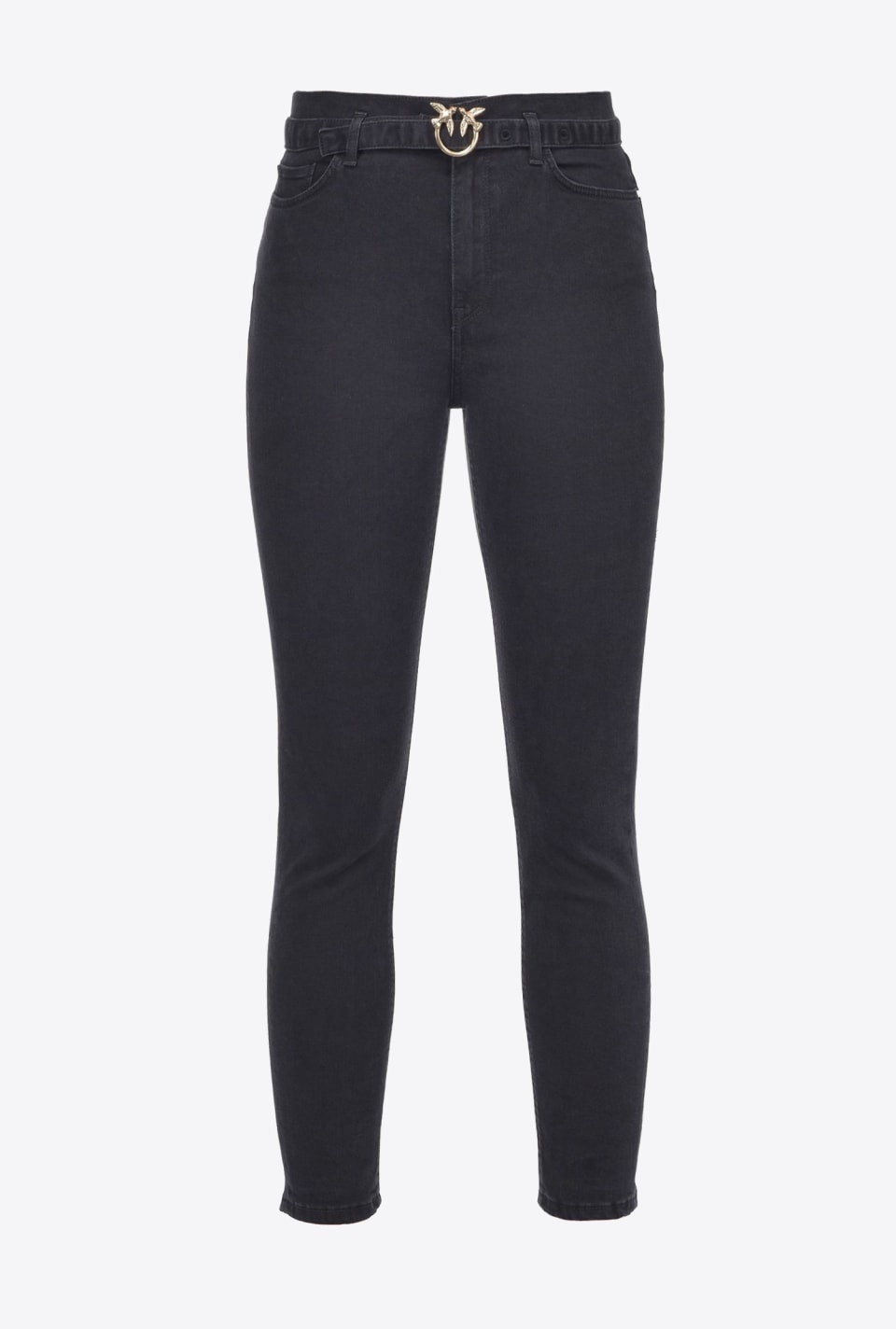 Skinny black jeans with belt - Pinko