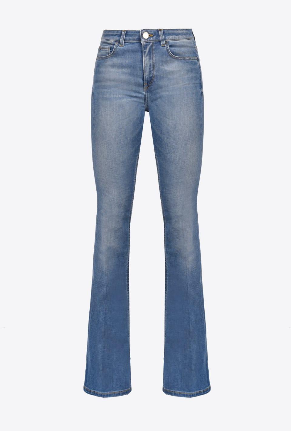 Flare-Fit-Jeans aus Soft-Denim - Pinko