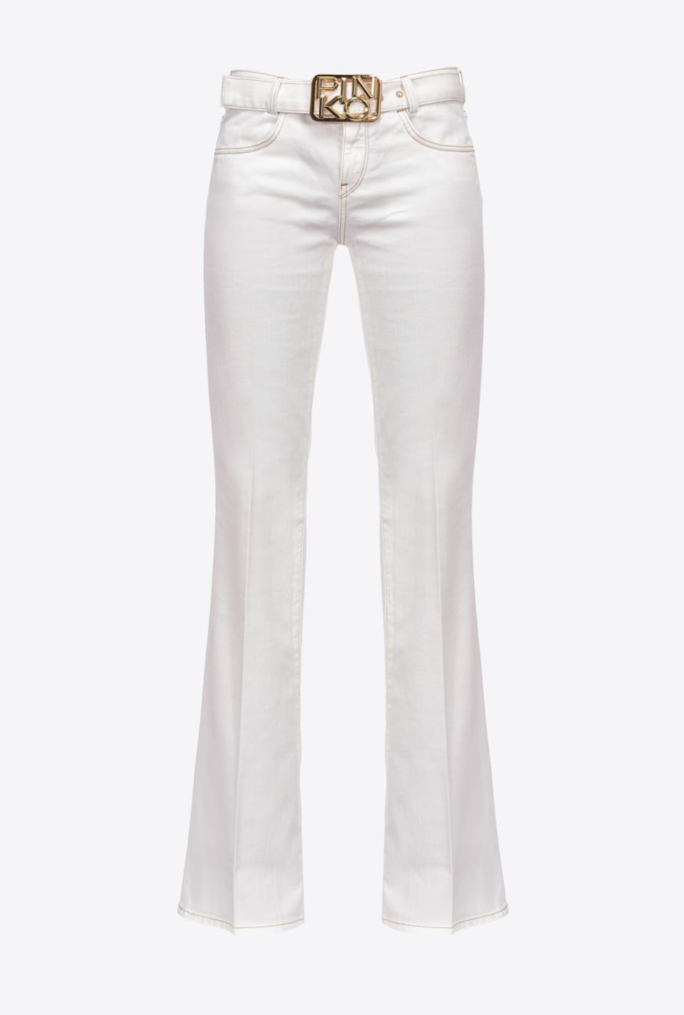 Flared trousers with Logo belt - Pinko