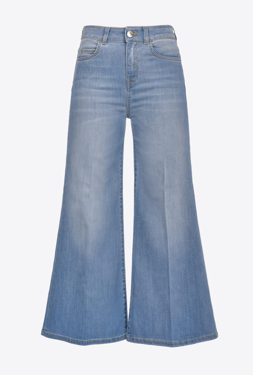 Cropped palazzo jeans in stretch denim - Pinko