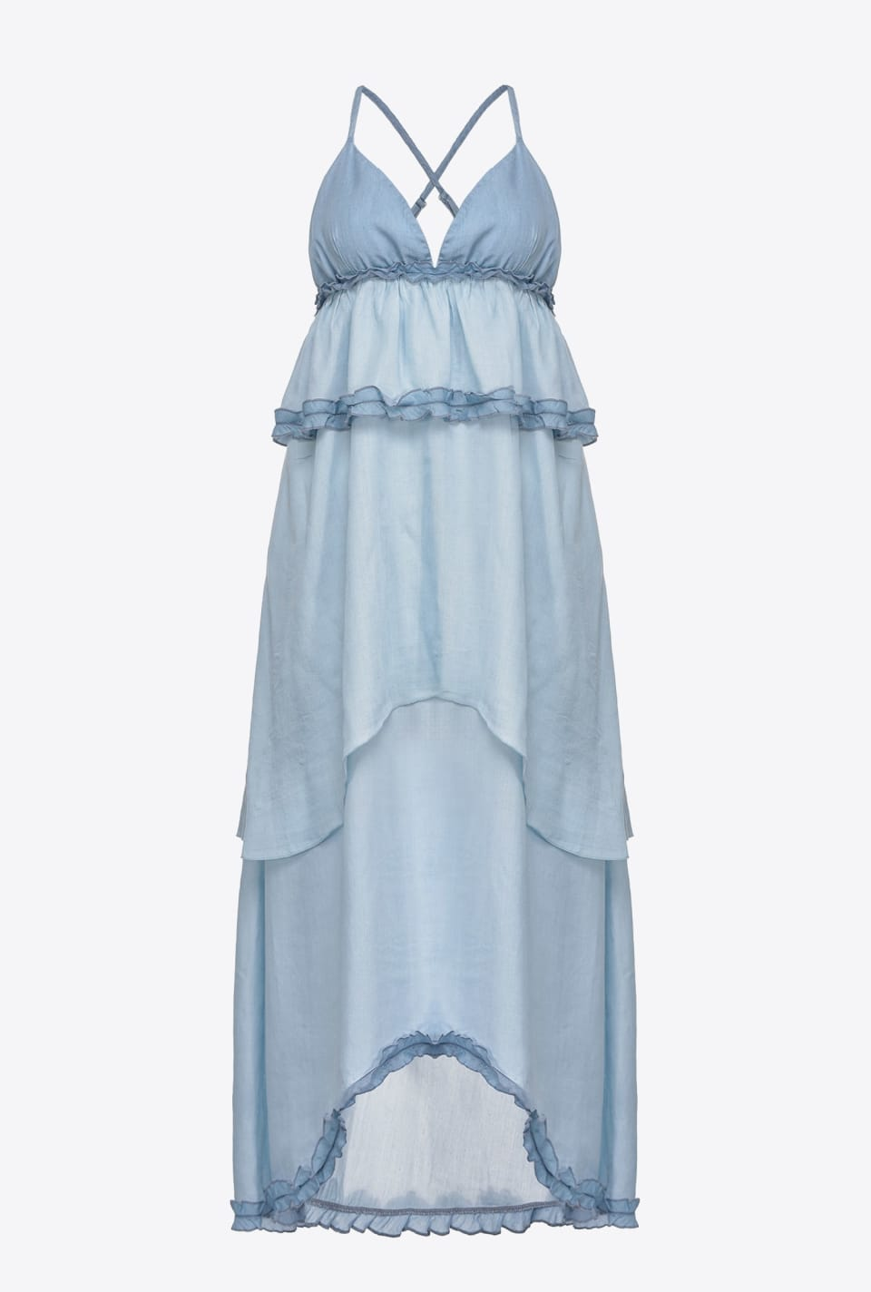 Slipdress in lyocell denim - Pinko