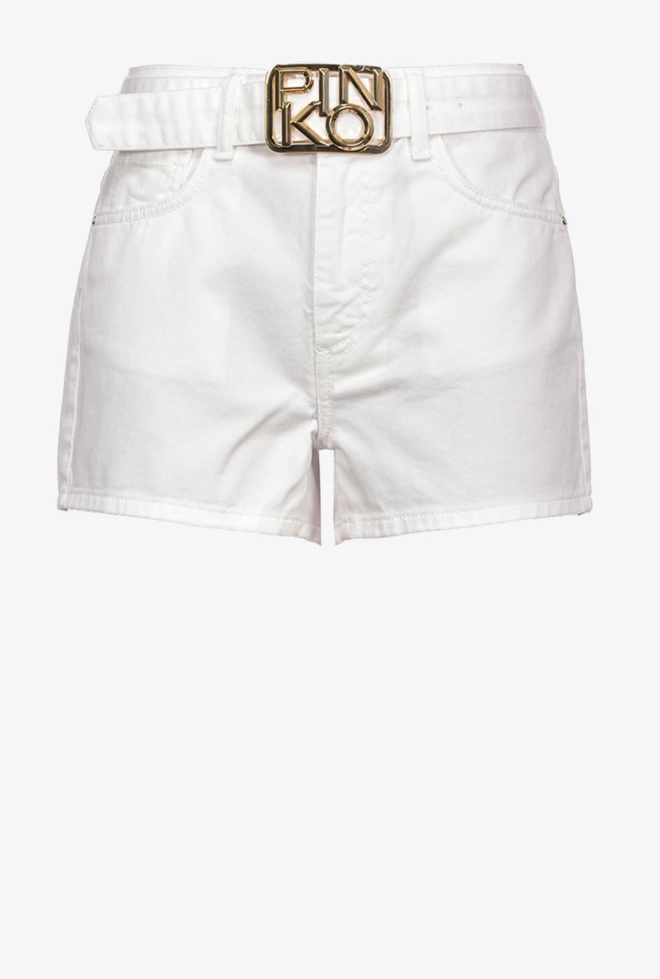 Shorts with logo buckle - Pinko