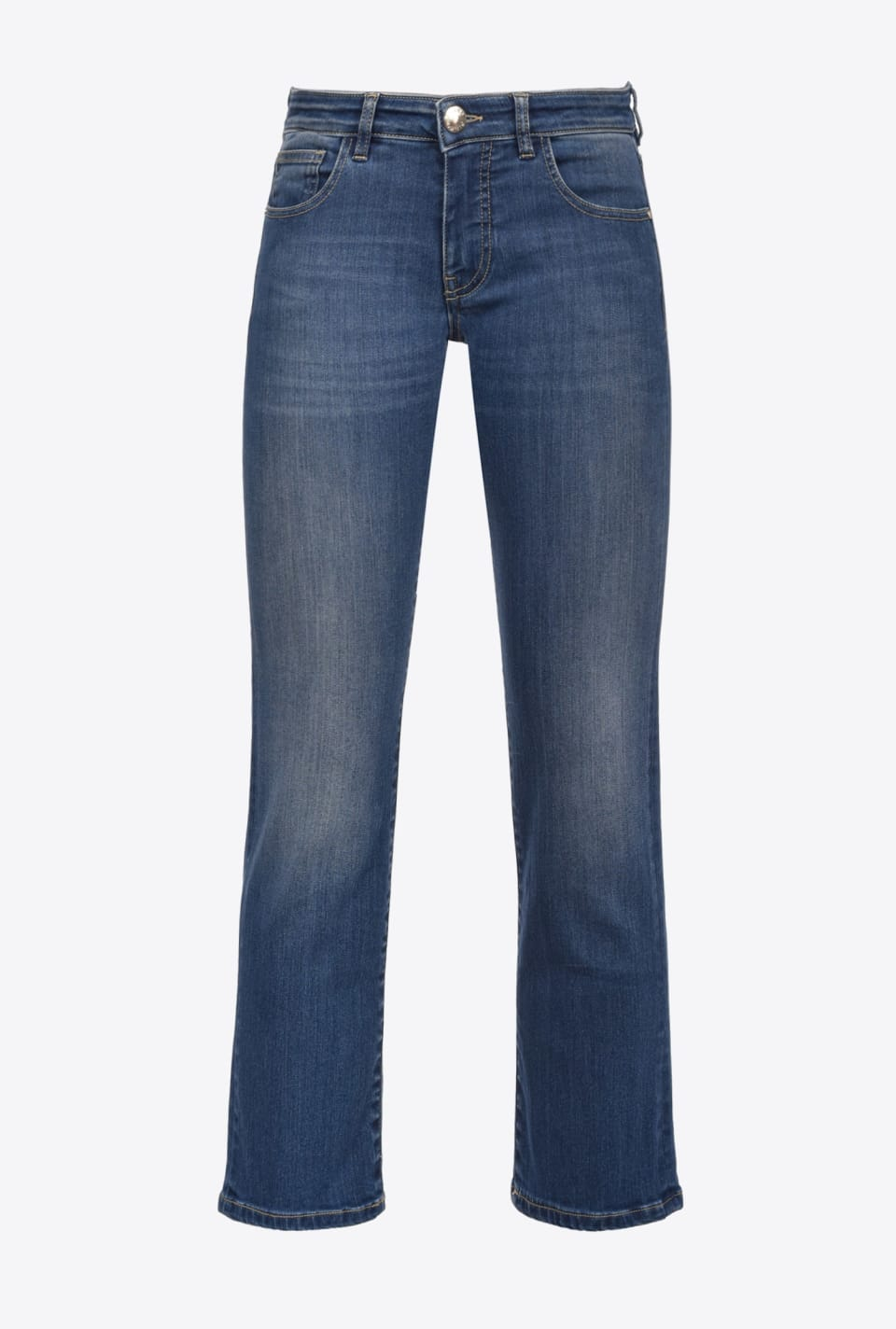 Low-waist slim straight jeans - Pinko