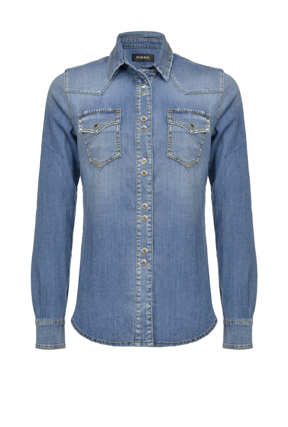 Hemd aus Light-Stretch-Denim - Pinko