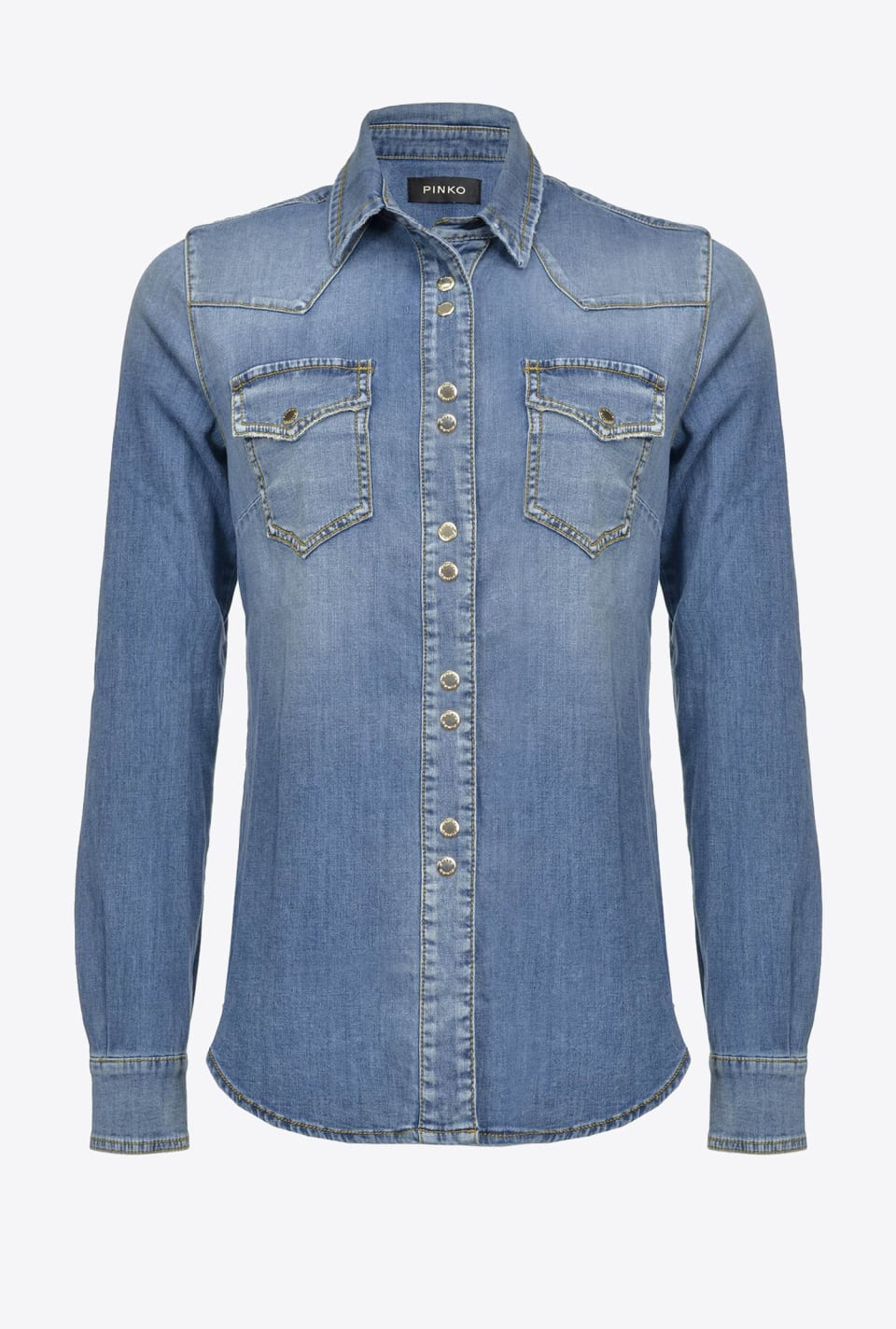 Camicia in denim light stretch - Pinko