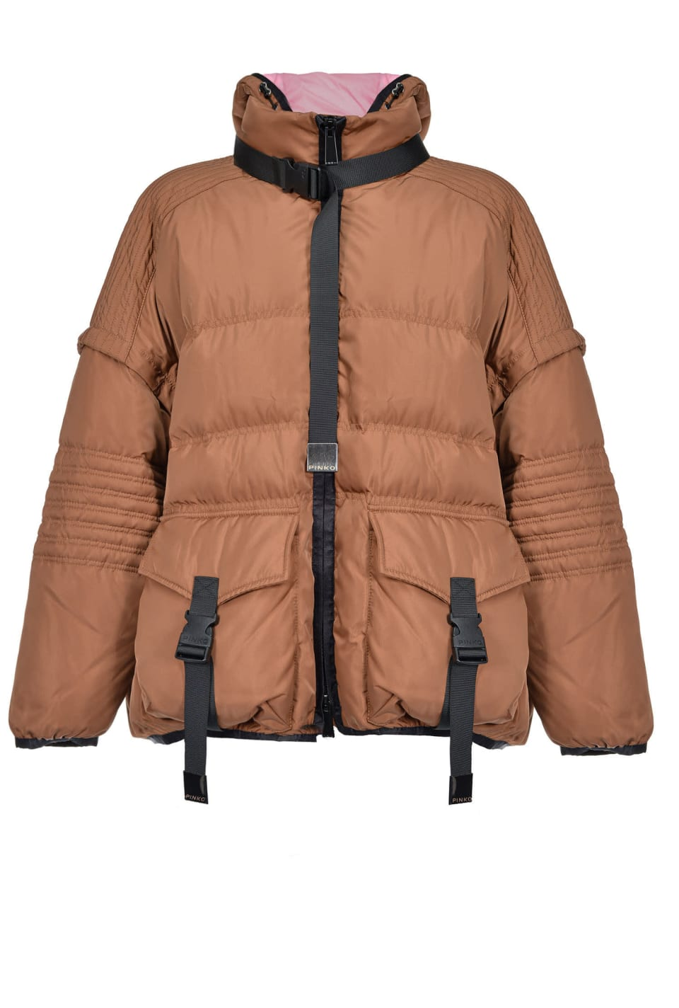 Technical quilted coat