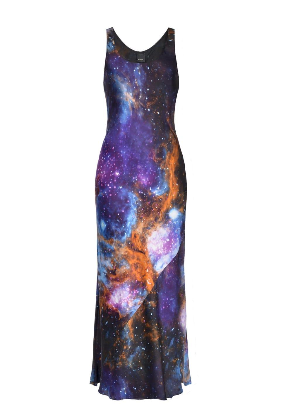 Vestido con estampado motivo galaxia