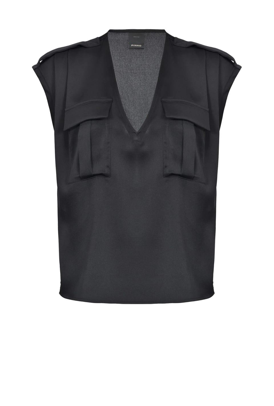 Blusa con bolsillos utilitarios