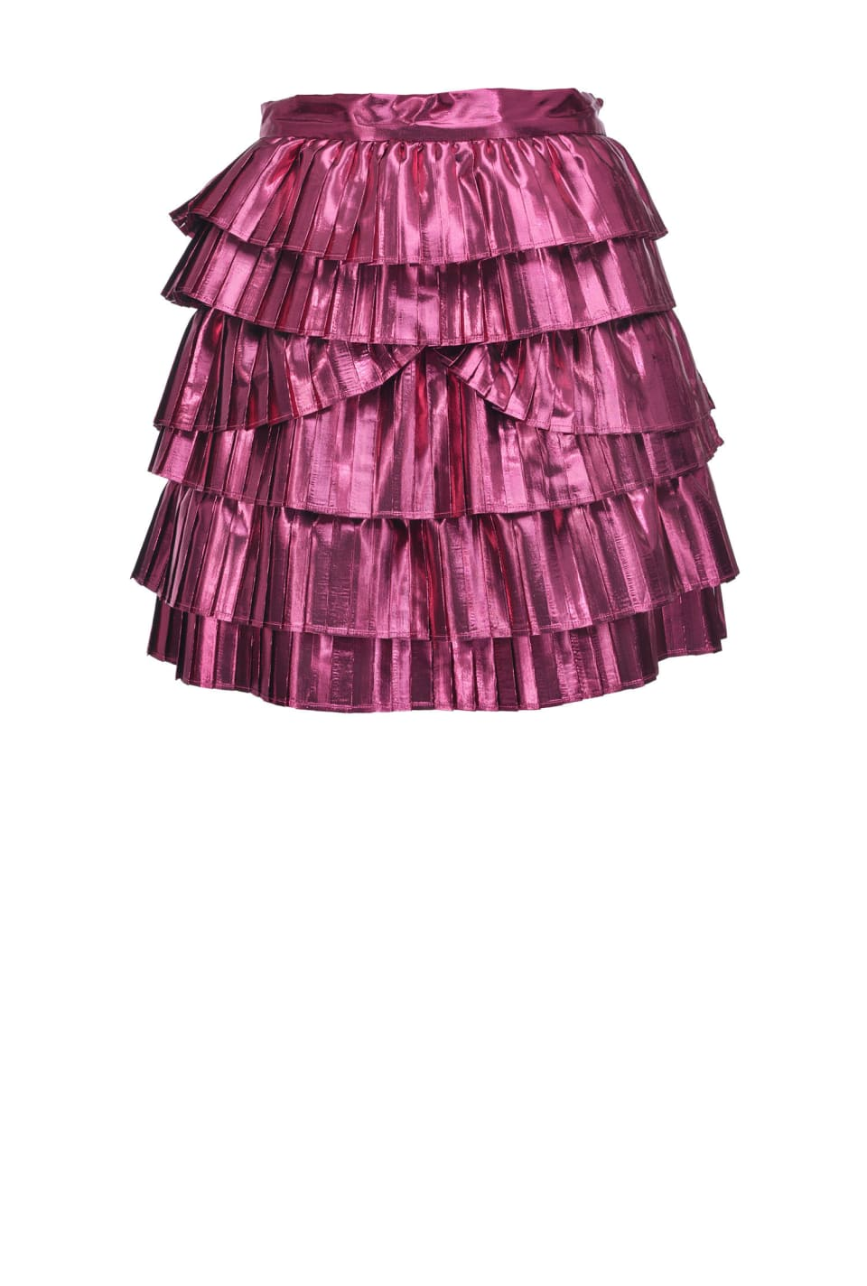 Metallic pleated mini skirt
